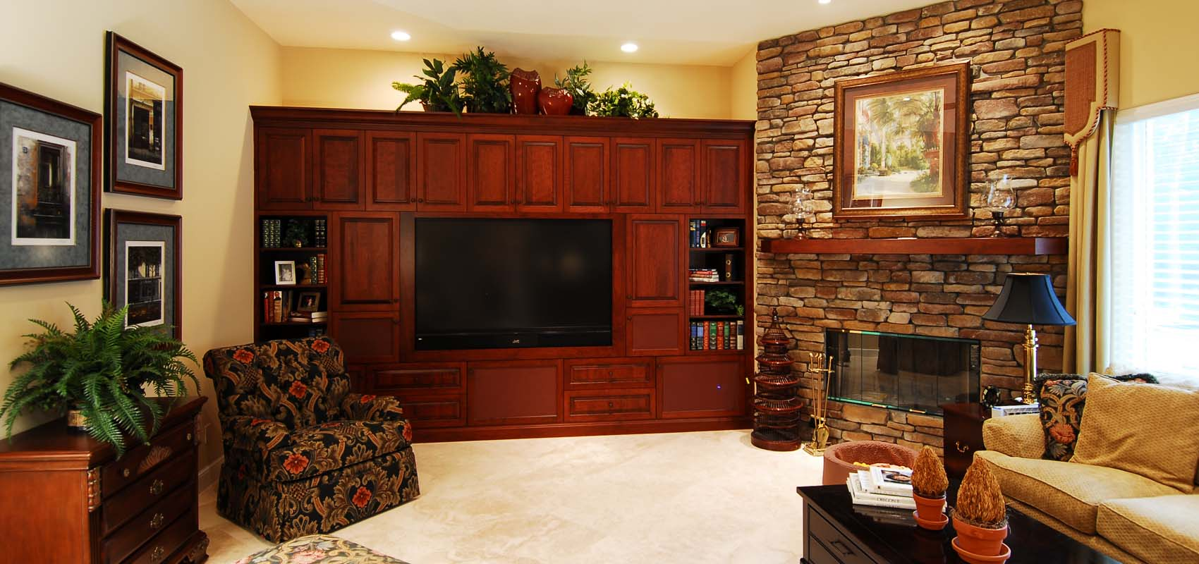Custom Built-In Entertainment Centers by River City Custom Cabinetry