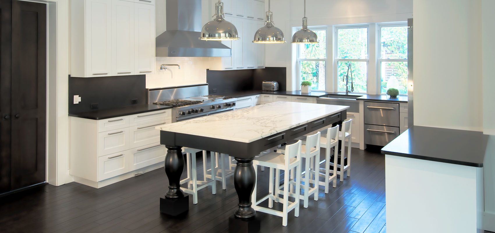 Custom Modern Kitchen Cabinets by River City Custom Cabinetry